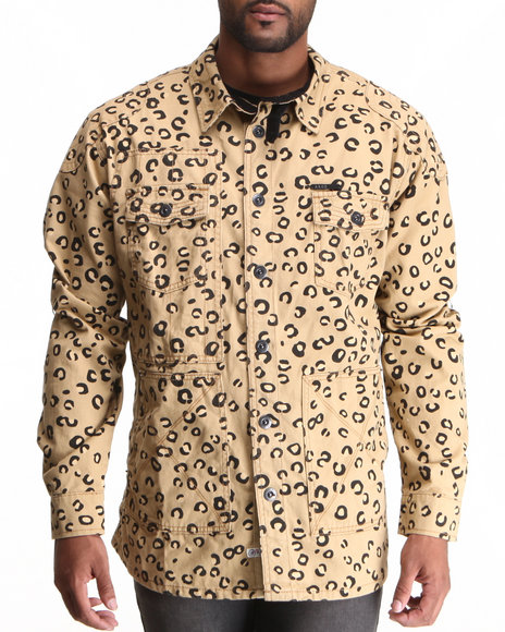 AKOO Animal Print Zimbabwe L/S Button-Down
