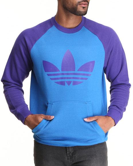 Adidas Blue Pullover Sweatshirts