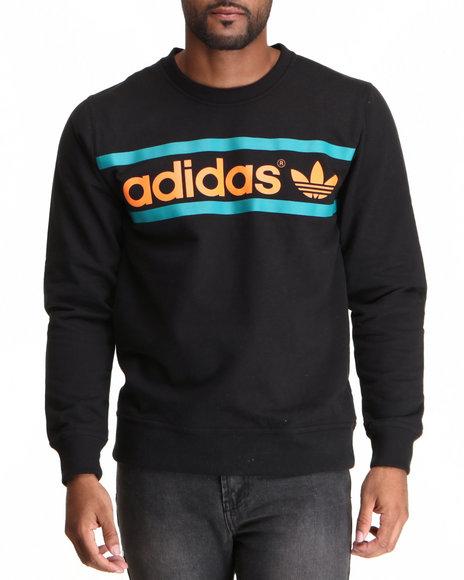 Adidas Black Heritage Logo Crewneck Sweatshirt