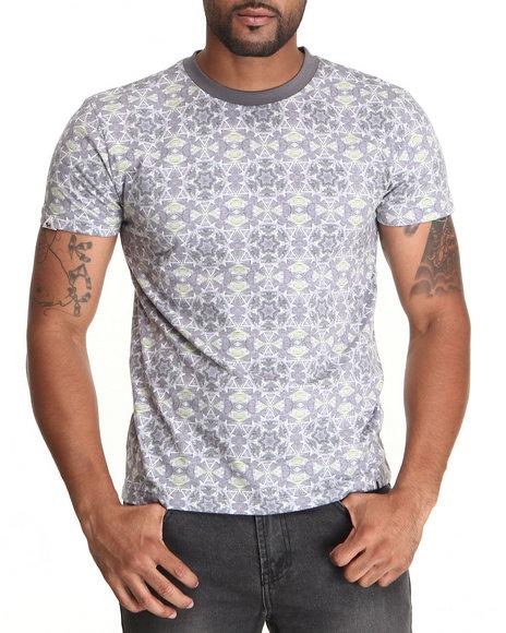 Bellfield Green,Grey Men's All Over Printed T-Shirt