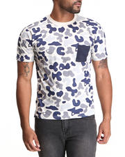 Shirts - Percival All Over Camo Print T-Shirt
