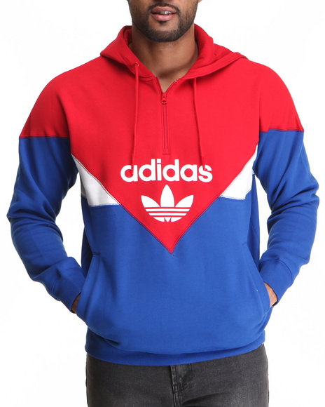 Adidas Red Colorado Half Zip Hoodie