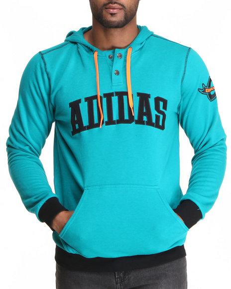 Adidas Men Varsity Pullover Hoodie Teal XXLarge