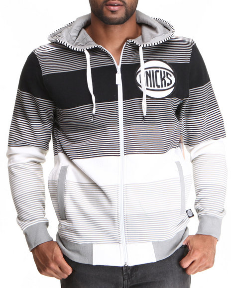 Nba, Mlb, Nfl Gear - Men Black New York Knicks Weaz Full Zip Hoody