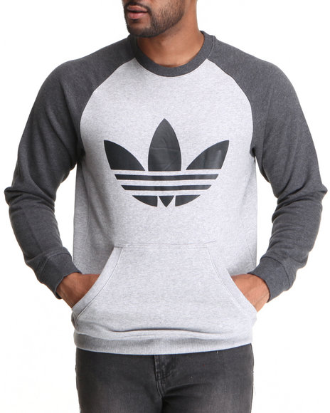 Adidas - Men Grey Trefoil Raglan Sweatshirt