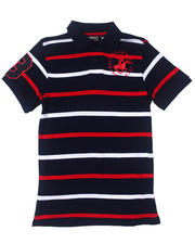 Black Friday Shop - Boys - Y/D PIQUE STRIPED POLO (8-20)