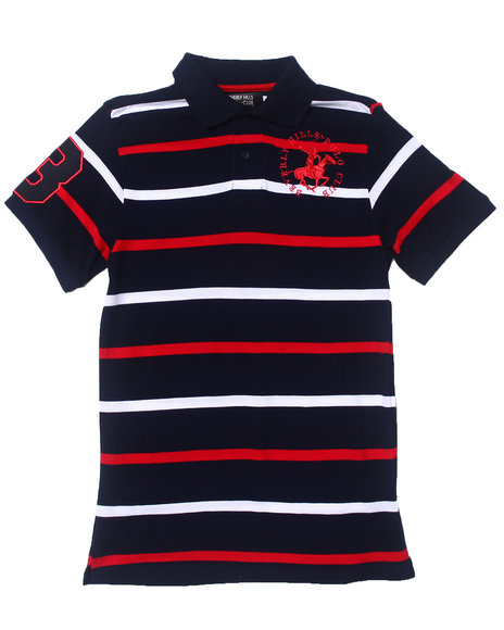 Arcade Styles - Y/D PIQUE STRIPED POLO (8-20)