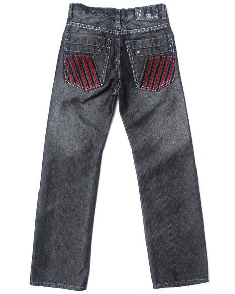 Arcade Styles Boys Black Shiny Denim Jeans (8-20)