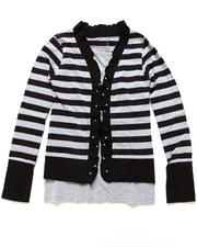 Black Friday Shop - Girls - Striped Cozy Twofer w/ Studs (7-16)