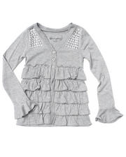 Girls - Ruffle Cardigan (4-6X)