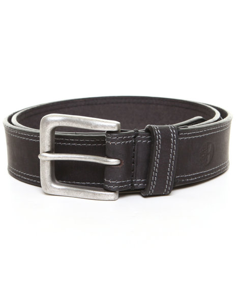 Timberland - Men Black Timberland Boot Leather Belt
