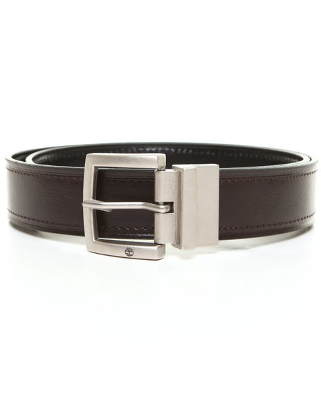 Timberland - Men Black, Brown Timberland Cut Edge Reversible Belt