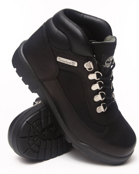 Timberland - Boys Black Smooth Field Boot (Big Kids)