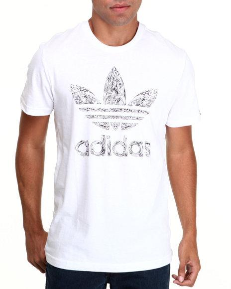 Adidas White Intricate Trefoil Tee