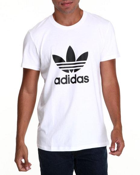 Adidas White Adi Trefoil Tee