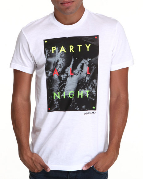 Adidas White All Night Tee