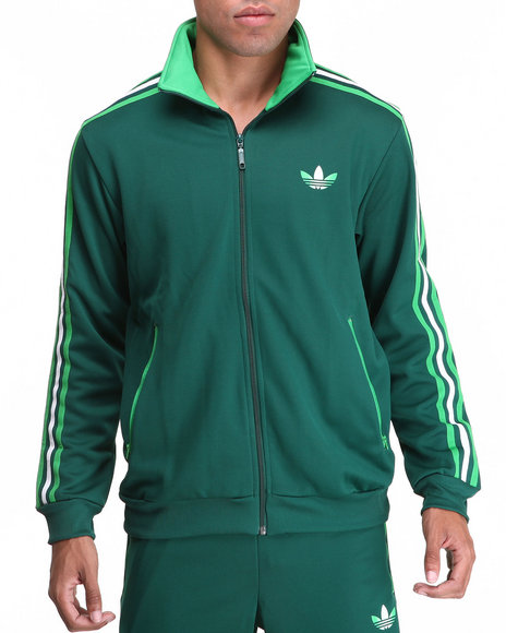 Adidas - Men Green Split Stripe Firebird Track Jacket - $48.99
