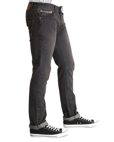 Bellfield - Men Black 5 Pocket Aztec Denim Jeans