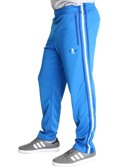 Adidas - Men Blue Split Stripe Firebird Track Pants