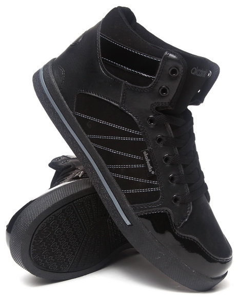 Akademiks Black The Zag Hightop Sneaker