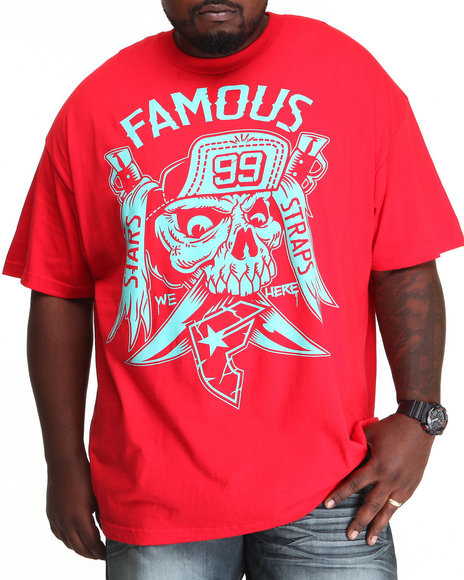 Famous Stars & Straps Red We Here Tee