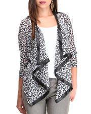 Fashion Lab - Animal Print Chiffon Blazer