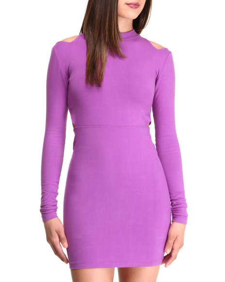 This Is A Love Song - Women Purple Wayne Dress