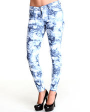 Bottoms - Marble Wash Skinny Jean