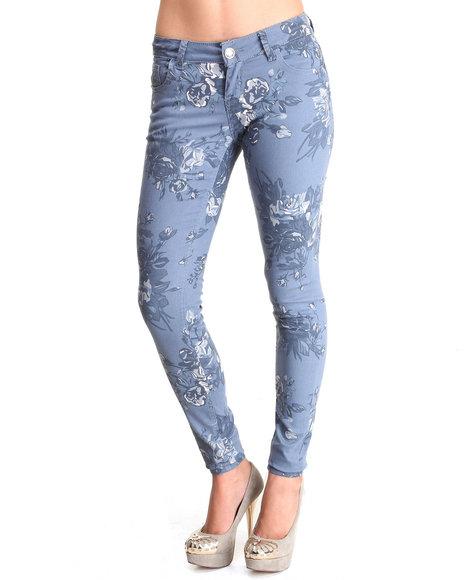 Fashion Lab Blue Floral Print Skinny Jean