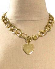 Necklaces - Chain Heart Trim Necklace