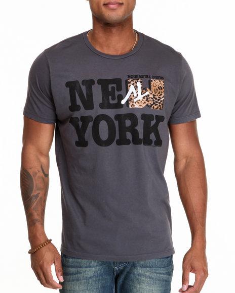 Junk Food Charcoal New York Mtv Leopard Tee