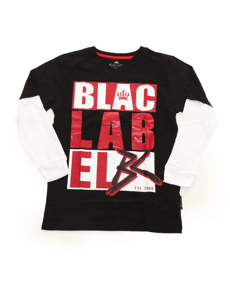 Blac Label Boys Black Blac Label Slider (8-20)