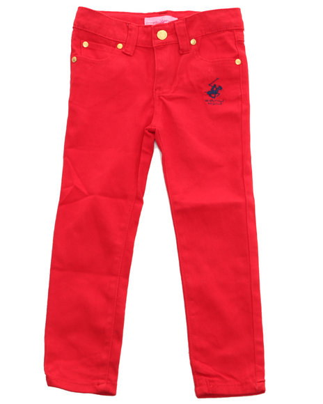 La Galleria - Girls Red Bhpc Color Denim Jeans (4-6X)