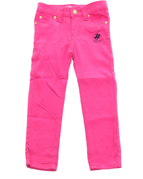 La Galleria Girls Pink Bhpc Color Denim Jeans (4-6X)