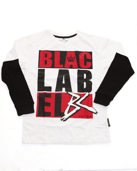Blac Label Boys White Blac Label Slider (8-20)
