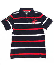 Arcade Styles - /D PIQUE STRIPED POLO (4-7)
