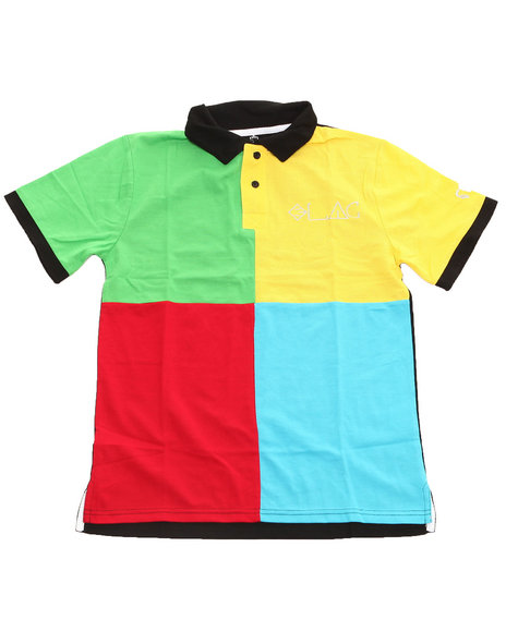 Blac Label Boys Multi Color Block Polo (8-20)