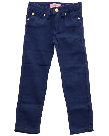 La Galleria - Girls Navy Bhpc Color Denim Jeans (4-6X)