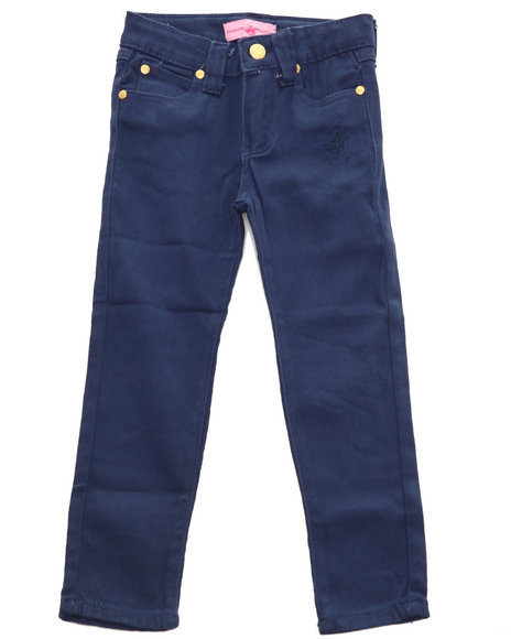 La Galleria Girls Navy Bhpc Color Denim Jeans (7-16)