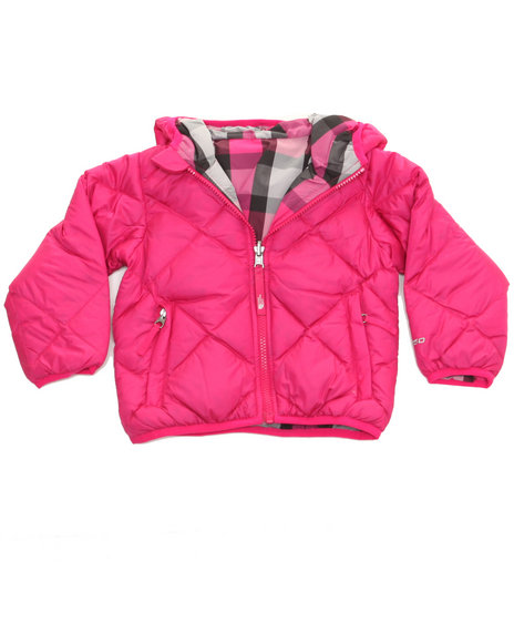 The North Face - Girls Pink Reversible Moondoggy Jacket (2T-4T)