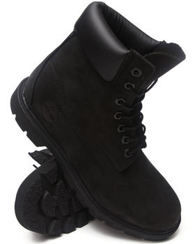 "Timberland - Black Nubuck 6"" Basic Boots"