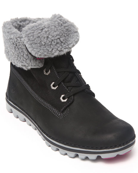 Timberland - Women Black Earthkeepers Brookton Roll Top Lined Boots