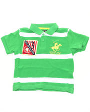 Tops - Y/D STRIPED POLO (2T-4T)