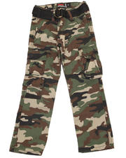 Bottoms - BELTED CAMO TWILL CARGO PANT (2T-4T)