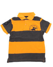 Tops - WIDE STRIPE POLO (2T-4T)