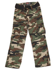 Arcade Styles - BELTED CAMO TWILL CARGO PANT (4-7)