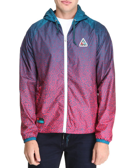 Lrg - Men Teal Faded Grit Windbreaker