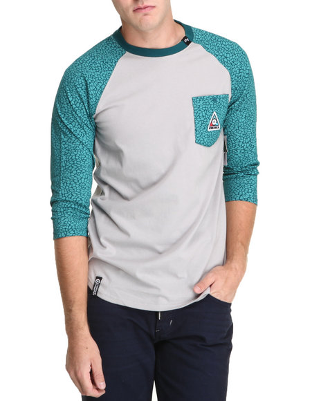 Lrg - Men Teal Color Of The Season Raglan Tee