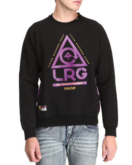 Lrg - Men Black Gritstone Crewneck Sweatshirt