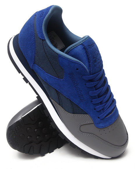Reebok Blue,Grey Reebok X Stash Cl Leather R12 Sneakers